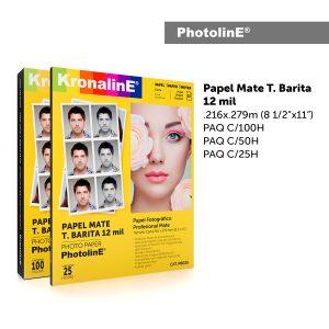 KronalinE PhotolinE PB100 Papel Mate T.Barita 12mil