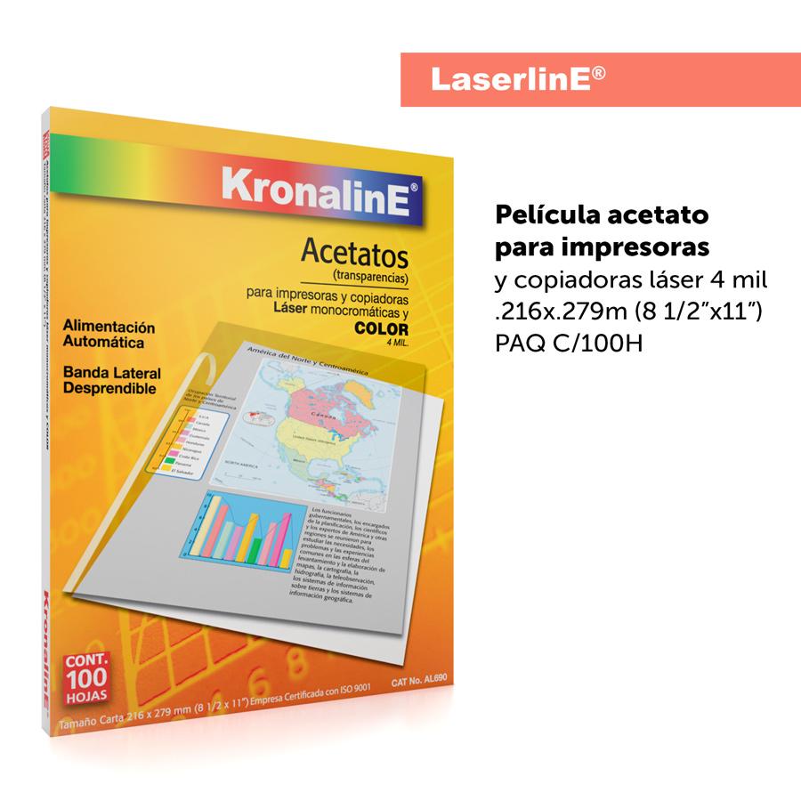KronalinE RetrolinE AL690 Acetatos para Impresoras y Copiadoras Laser 4mil