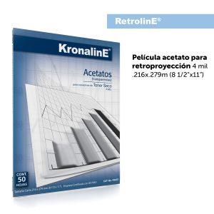 KronalinE RetrolinE PA657 Acetato Para Retroproyeccion 4mil