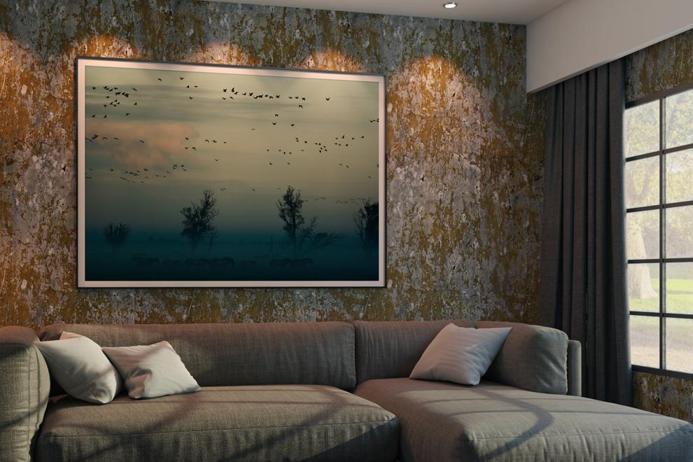 Cuadro decorativo de Papel Fotográfico Mate T Barita 12 mil en sala - Photoline - Kronaline