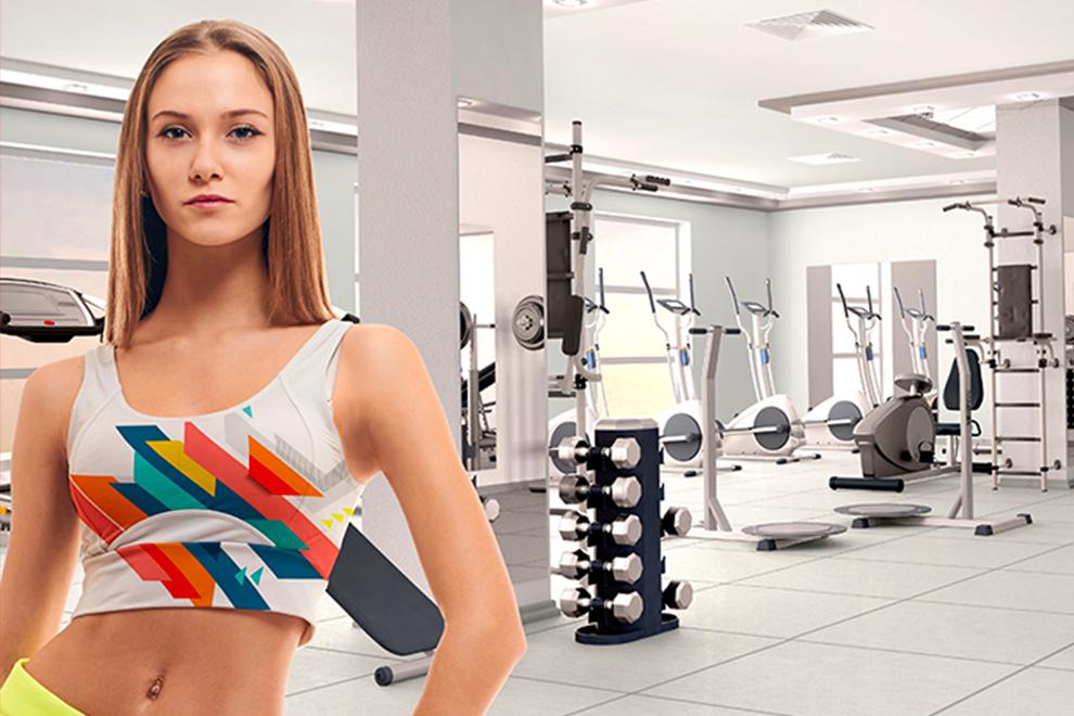 Mujer con ropa deportiva sublimada en polyester de secado rápido 50g - Sublimaline - Kronaline