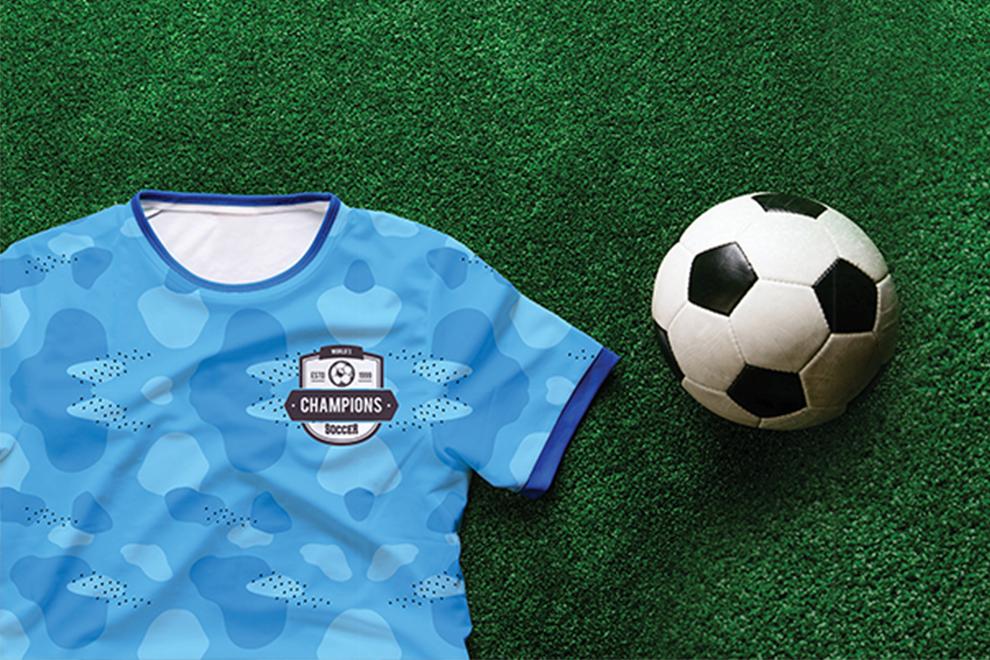 Papel profesional para sublimación de secado rápido usado en playera de equipo de football - Sublimaline - Kronaline