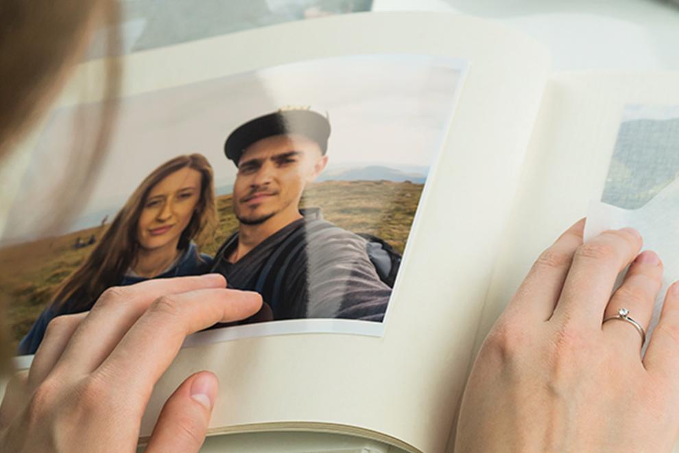 Álbum de fotos de pareja impreso en papel fotográfico profesional high gloss 270g/m2 - Photoline - Kronaline