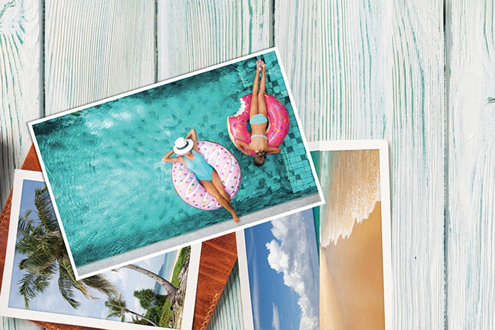 Fotos de Vacaciones impresas en papel fotogáfico profesional satín 270g - Photoline - Kronaline